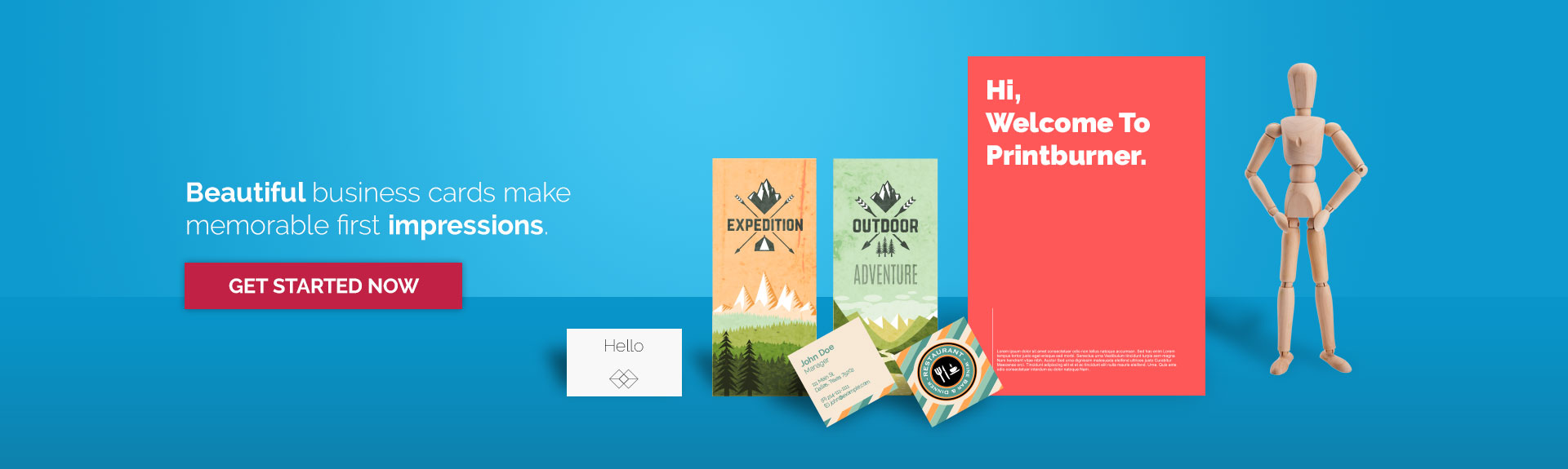 Beautiful business cards make memorable first impressions