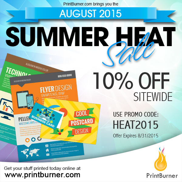 The August 2015 Summer Heat Print Sale
