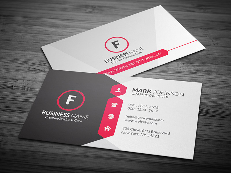 Premium Standard Business Cards Off Imprint By PrintBurner - Standard business card template